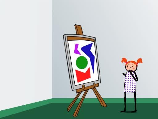 Kinder Abhängigkeit von Intentionen des Künstlers beim Bilder identifizieren