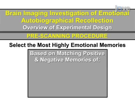 Brain Imaging Investigation of the Neural Correlates of Emotional Autobiographical Recollection
