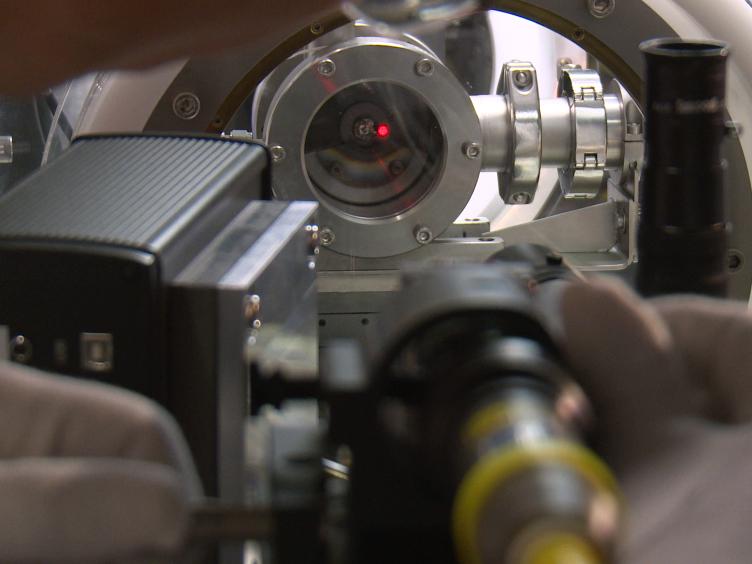 לייזר-חימום, ספקטרומטר Radiance לחקר חומרים גרעיניים בתנאים הדמיית תאונת הגרעין