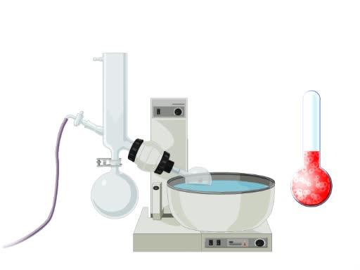 溶媒を除去する回転蒸発