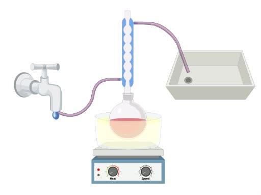 程序集的激烈化学反应回流系统