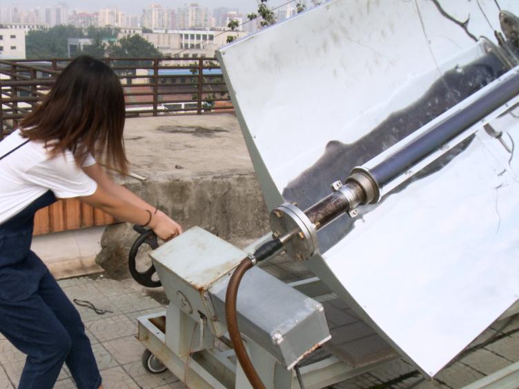 Güneş adsorpsiyon soğutma konsantre toplayıcı ile deneysel sistem