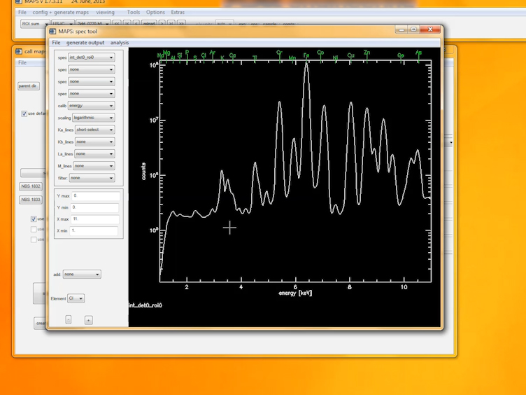 التحديد الكمي للبيانات Fluorescence الأشعة السينية باستخدام خرائط