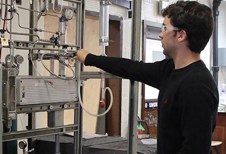 Réacteur catalytique: Hydrogénation de l'éthylène